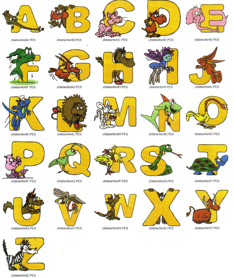 Alphabet embroidery font « origami