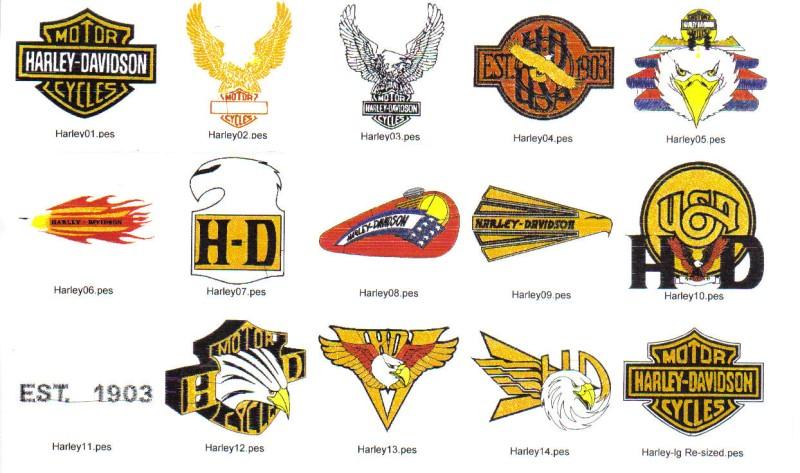 harley davidson machine embroidery designs